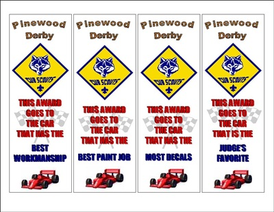 image relating to Pinewood Derby Awards Printable known as Pinewood Derby Awards The Strategy Doorway