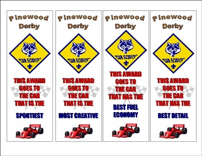 Pinewood derby awards the idea door for Pinewood derby certificate pdf