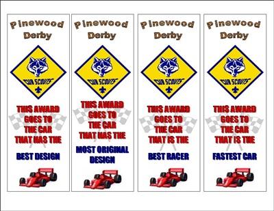 Pinewood Derby Awards The Idea Door