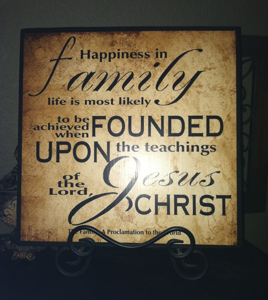 Family proclamation printable sign the idea door for Idea door relief society