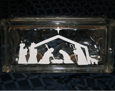 Glass Block - Nativity