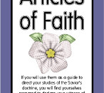 Articles of Faith 4 x 6 Cards