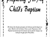 Baptism Handouts for Parents and Kids