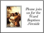 LDS BAPTISM AND BAPTISM PREVIEW INVITATIONS