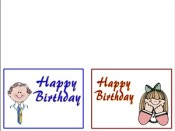 Birthday Cards for Primary Kids