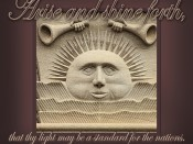 Arise and shine forth sunstone print the idea door for Idea door yw