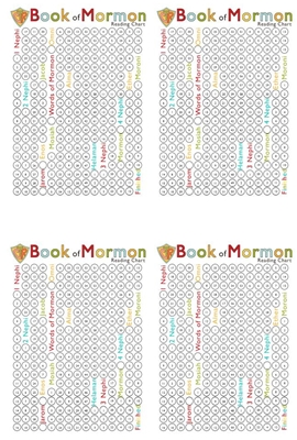 book of mormon reading charts for girl 4