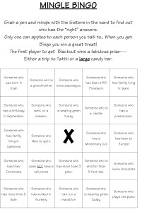Mingle Bingo
