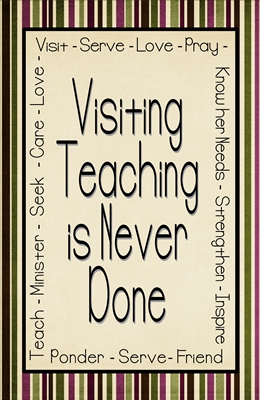 visiting teaching is never done 4 x 6 3 sm