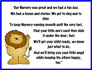 Dismissal Nursery Signs Pdf197 2 Kb