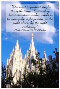 Elder Bruce R. McConkie quote on marriage