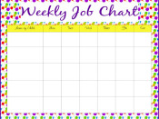 Job Charts – Monthly Calendars