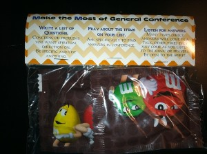 Make the Most of General Conference (handout with M&M's)