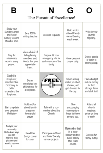 Pursuit of Excellence Bingo