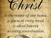 Christ Is the center of our home…quote 12 x 12