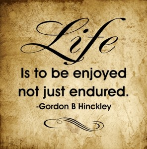Life Is to be enjoyed…quote
