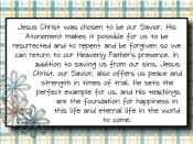 Why is Jesus Christ important in my life?