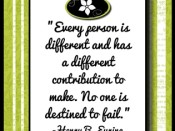 Every person is different…quote