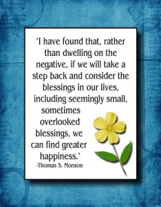 I have found that, rather than dwelling on the negative…