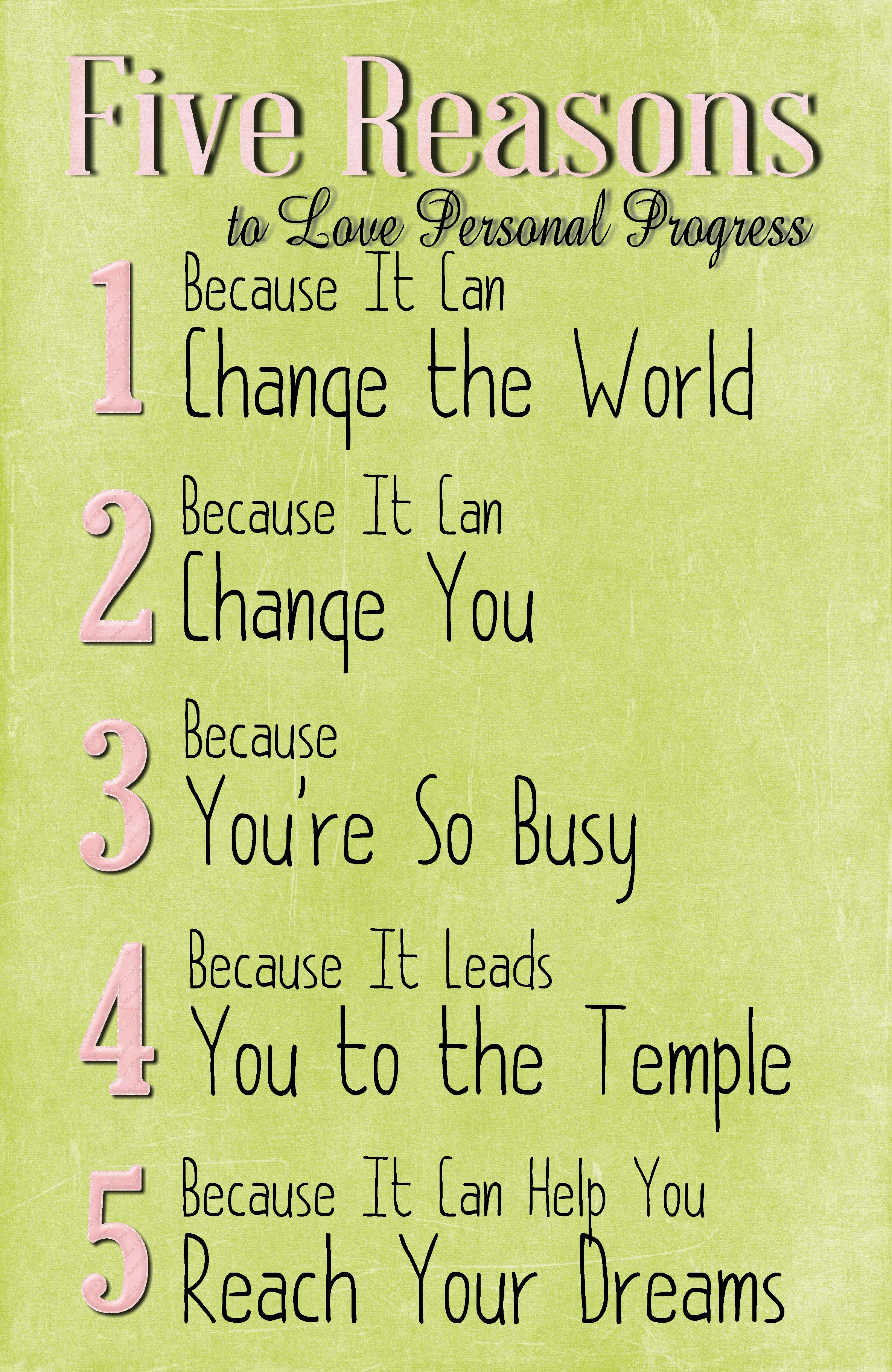 Quotes About Progress Five Reasons To Love Personal Progress New Beginnings  The Idea Door