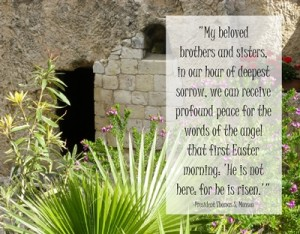 He is not here: for he is risen…quote