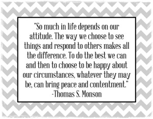 So much in life depends on our attitude…quote