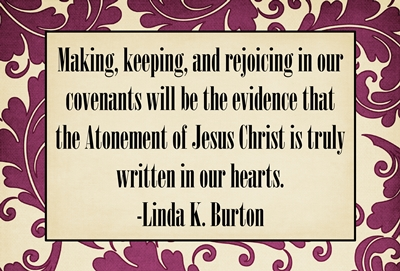 Making keeping and rejoicing in our covenants sm