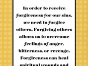Why do I need to forgive others?