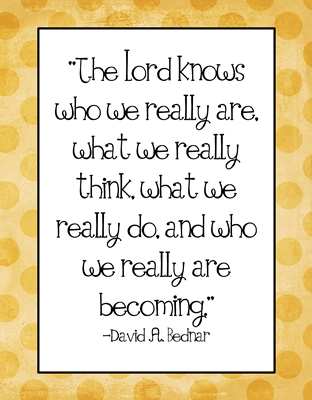 The Lord knows who we really are 8 x 10 y sm