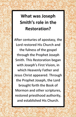What was Joseph Smiths role in the Restoration sm