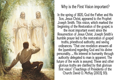 Why is the First Vision important sm