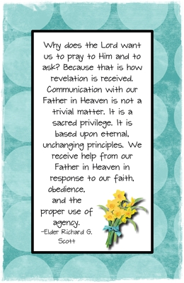 How do I receive personal revelation 3 sm