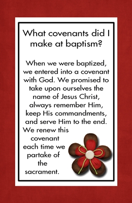 What covenants did I make at baptism sm