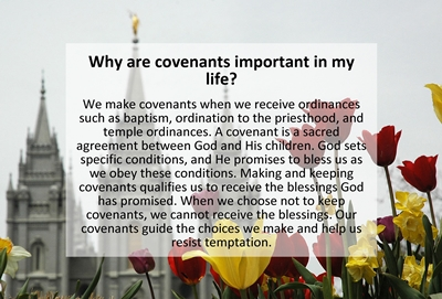 Why are covenants important in my life sm
