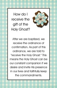 How do I receive the gift of the Holy Ghost?