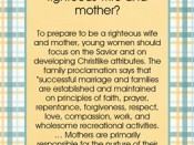 How can I prepare now to become a righteous wife and mother?