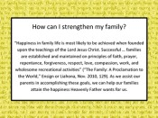 How can I strengthen my family?