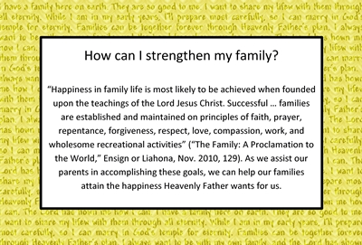 How can I strengthen my family sm