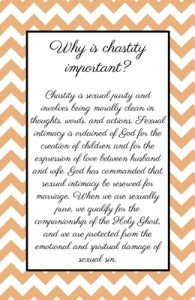 Why is chastity important?