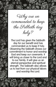 Why are we commanded to keep the Sabbath day holy?
