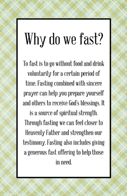 Why do we fast sm