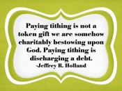 Why do we pay tithing?