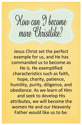 How can I become more Christlike sm