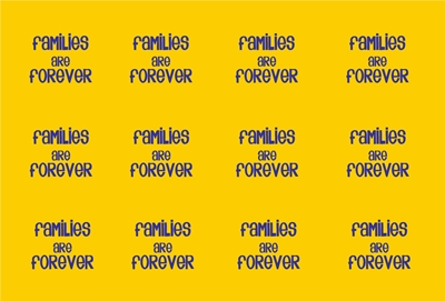Families are Forever Bottle cap yellowblue preview