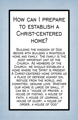 How can I prepare to establish a Christ-centered home sm