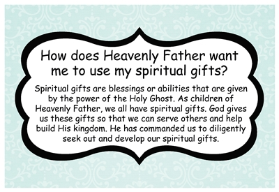 How does Heavenly Father want me to use my spiritual gifts sm
