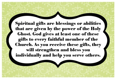 Spiritual gifts are blessings sm
