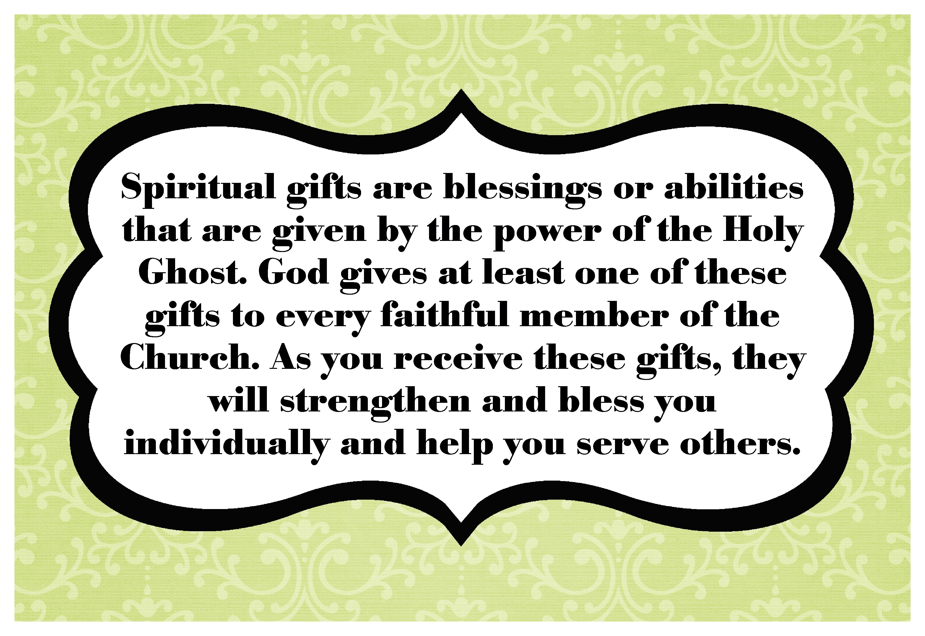 How does Heavenly Father want me to use my spiritual gifts? - The ...