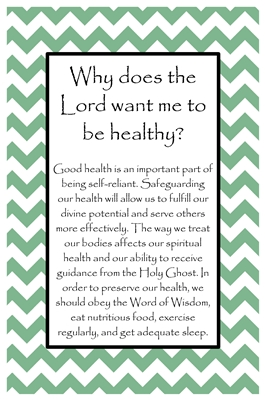 Why does the Lord want me to be healthy sm