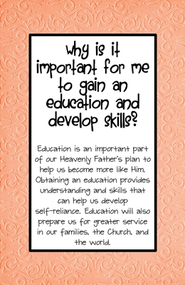 Why is it important for me to gain an education and develop skills sm